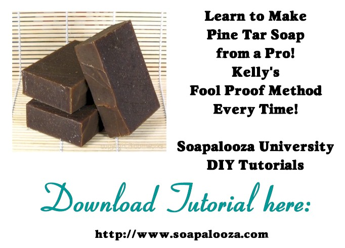 Learn to Make Pine Tar Soap