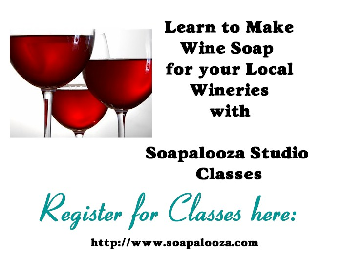 Sip & Soap Wine CP Soapmaking